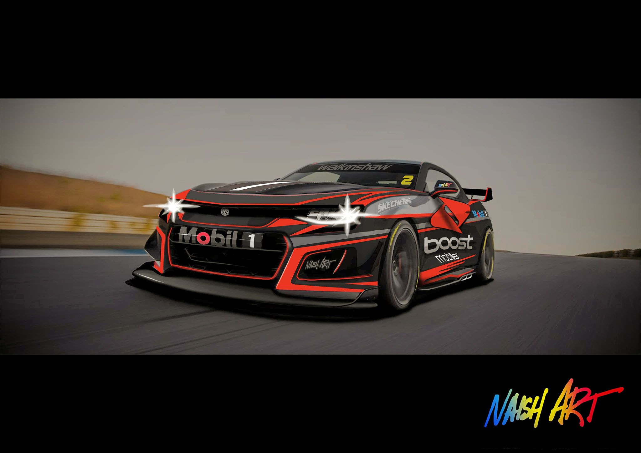 Track Ready Camaro Rendering Looks Pumped For Supercars