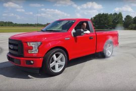 Video: Dealership creates 2018 Ford F-150 Lightning, rips up airstrip