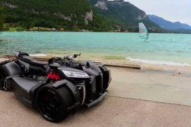 Video: 2017 Lazareth Wazumi V8M is a deranged, Maserati V8-powered trike