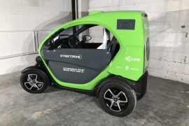 StreetDrone ONE autonomous city car testbed exhibited in Munich