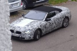 2018 BMW 8 Series convertible spied in camouflage