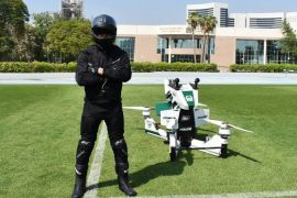 Video: Dubai police trialing electric hoverbikes