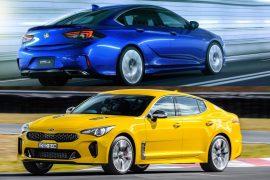 2018 Kia Stinger GT vs 2018 Holden Commodore VXR: pre-review comparison