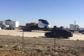 2018 Tesla electric semi-truck spotted in the wild