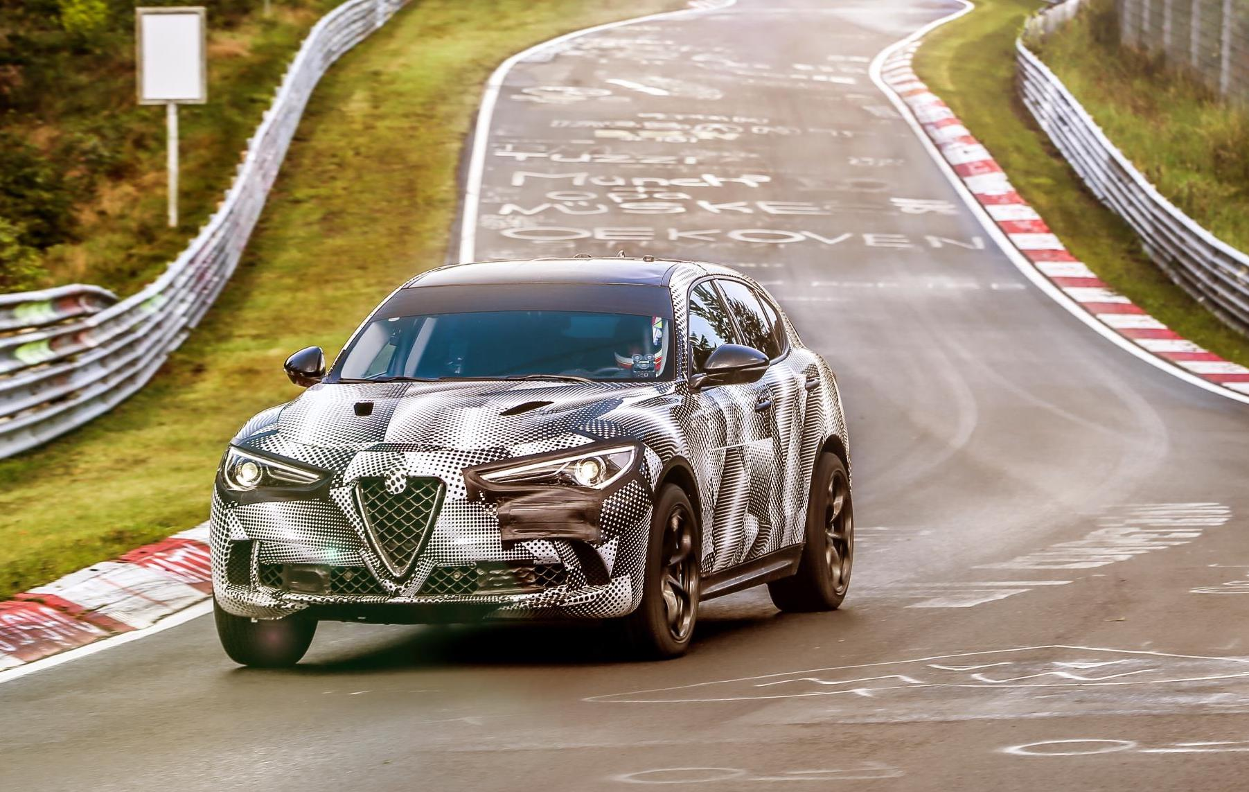 Alfa Romeo Stelvio Qv Takes Nurburgring Suv Lap Record Video