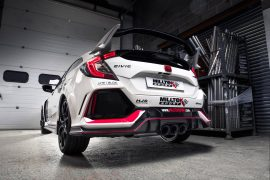 Miltek develops cracking exhaust for Honda Civic Type R
