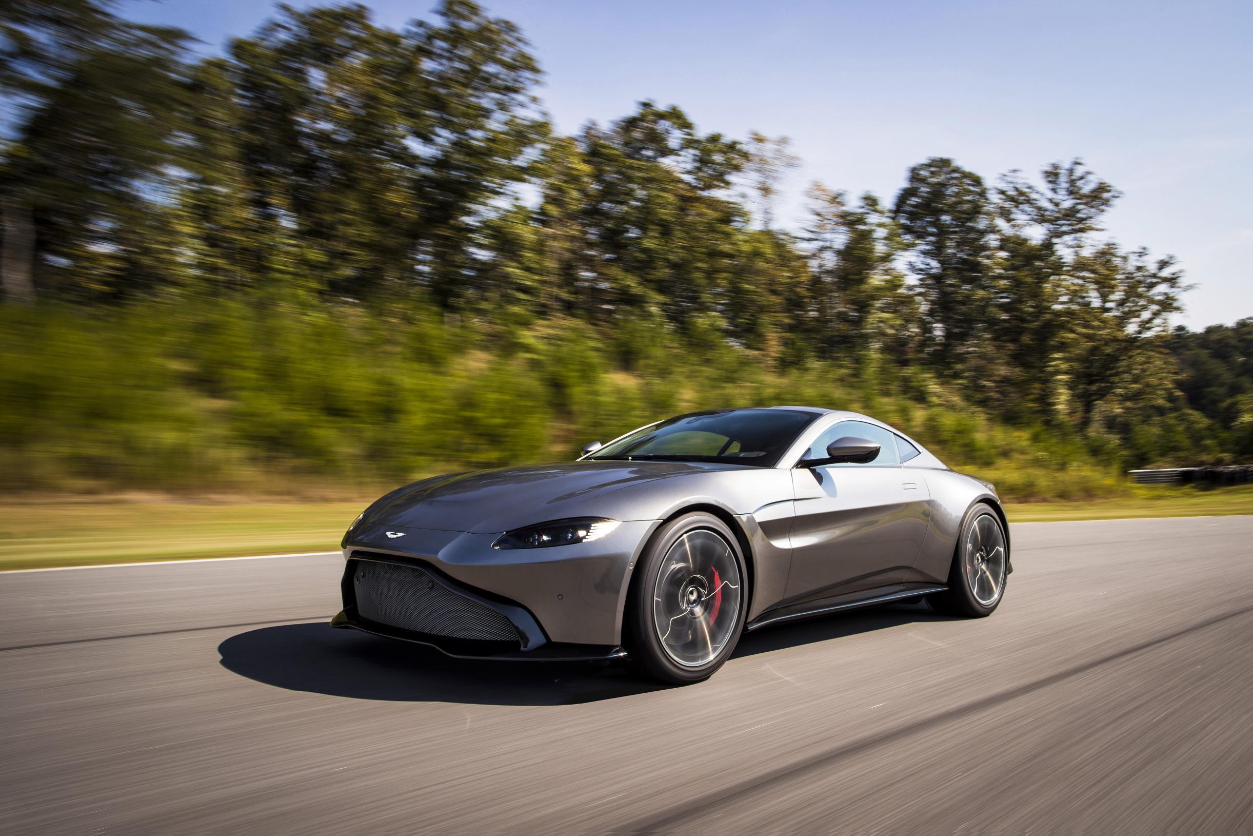 2018 Aston Martin Vantage Grey Driving Top10cars