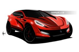 2021 Ferrari SUV envisioned with dramatic rendering