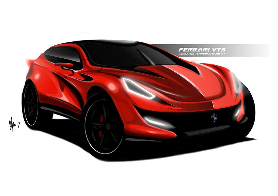 2021 Ferrari SUV envisioned with dramatic rendering ...