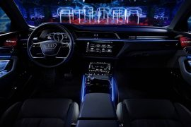 2019 Audi e-tron interior revealed, five screens, rear-view cameras