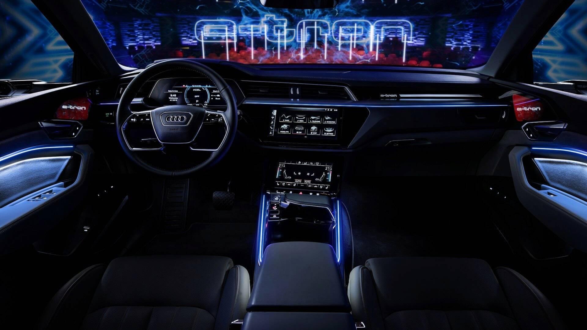 2019 Audi E Tron Interior Revealed Five Screens Rear