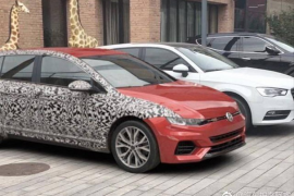 2019 Volkswagen Golf spotted in China with minimal disguise?