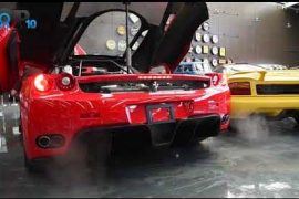 Video: Enzo Ferrari start-up, engine sound