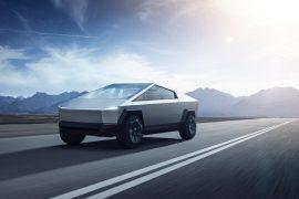 2021 Tesla Cybertruck unveiled. Polarising styling and US$40k entry